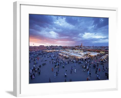 Elevated View over the DJemaa el Fna, Marrakech (Marrakesh), Morocco, North Africa, Africa, Africa-Gavin Hellier-Framed Art Print