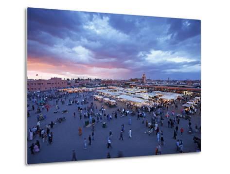 Elevated View over the DJemaa el Fna, Marrakech (Marrakesh), Morocco, North Africa, Africa, Africa-Gavin Hellier-Metal Print