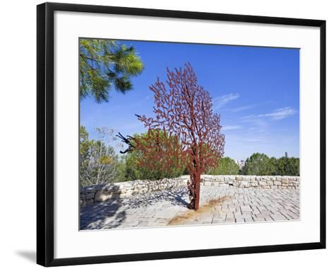 Yad Vashem Holocaust Memorial, Partisans Panorama Memorial Tree, Mount Herzl, Jerusalem, Israel-Gavin Hellier-Framed Art Print