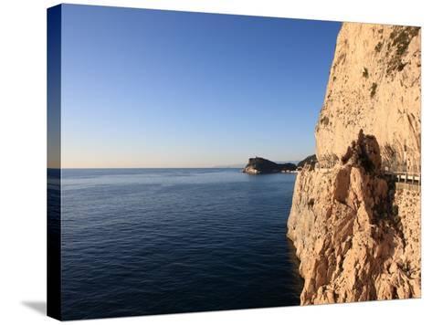 Cliff, Capo Noli, Liguria, Italy-Vincenzo Lombardo-Stretched Canvas Print