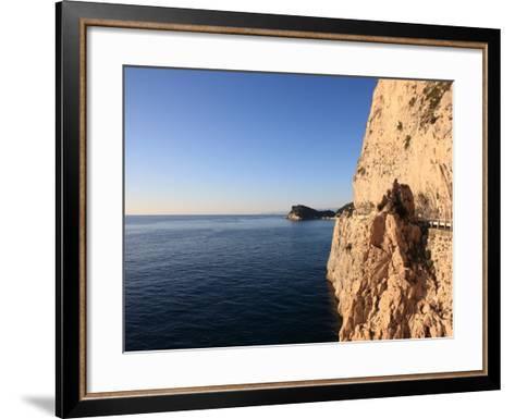 Cliff, Capo Noli, Liguria, Italy-Vincenzo Lombardo-Framed Art Print