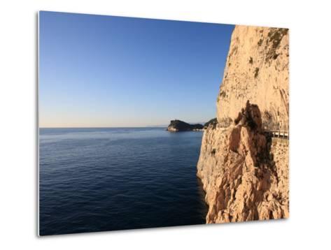 Cliff, Capo Noli, Liguria, Italy-Vincenzo Lombardo-Metal Print