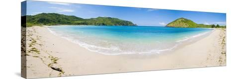 Mawun Beach, South Lombok, a Panorama Showing the Whole Half Moon Bay, Indonesia, Southeast Asia-Matthew Williams-Ellis-Stretched Canvas Print