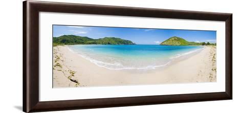 Mawun Beach, South Lombok, a Panorama Showing the Whole Half Moon Bay, Indonesia, Southeast Asia-Matthew Williams-Ellis-Framed Art Print