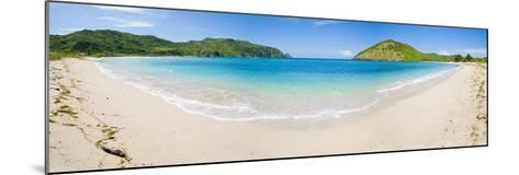 Mawun Beach, South Lombok, a Panorama Showing the Whole Half Moon Bay, Indonesia, Southeast Asia-Matthew Williams-Ellis-Mounted Photographic Print