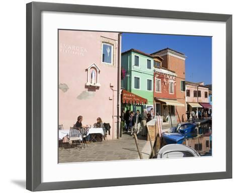 Canal on Burano Island, Venice, Veneto, Italy, Europe-Richard Cummins-Framed Art Print