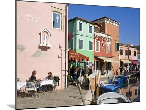 Canal on Burano Island, Venice, Veneto, Italy, Europe-Richard Cummins-Mounted Photographic Print