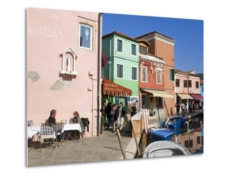 Canal on Burano Island, Venice, Veneto, Italy, Europe-Richard Cummins-Metal Print