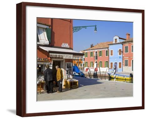 Store on Corte Novello, Burano Island, Venice, Veneto, Italy, Europe-Richard Cummins-Framed Art Print