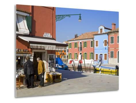 Store on Corte Novello, Burano Island, Venice, Veneto, Italy, Europe-Richard Cummins-Metal Print