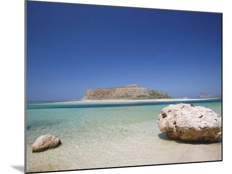 Balos Bay and Gramvousa, Chania, Crete, Greek Islands, Greece, Europe-Sakis Papadopoulos-Mounted Photographic Print