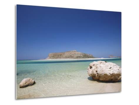 Balos Bay and Gramvousa, Chania, Crete, Greek Islands, Greece, Europe-Sakis Papadopoulos-Metal Print