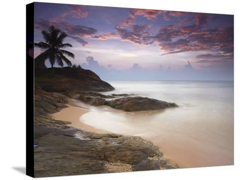 Bentota Beach at Sunset, Western Province, Sri Lanka, Asia-Ian Trower-Stretched Canvas Print