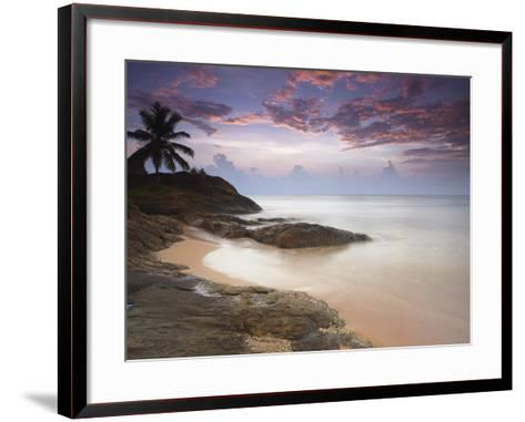 Bentota Beach at Sunset, Western Province, Sri Lanka, Asia-Ian Trower-Framed Art Print
