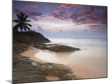 Bentota Beach at Sunset, Western Province, Sri Lanka, Asia-Ian Trower-Mounted Photographic Print