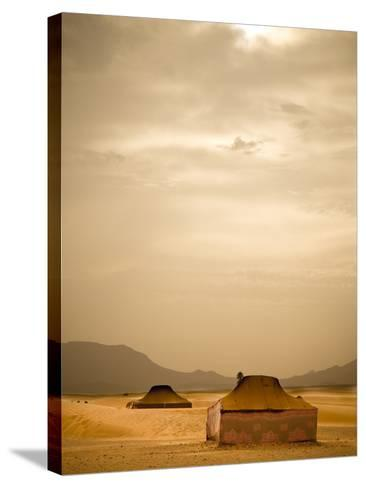 Traditional Bedouin Tents in the Sahara Desert, Near Zagora, Merzouga, Morocco, North Africa-Ian Egner-Stretched Canvas Print