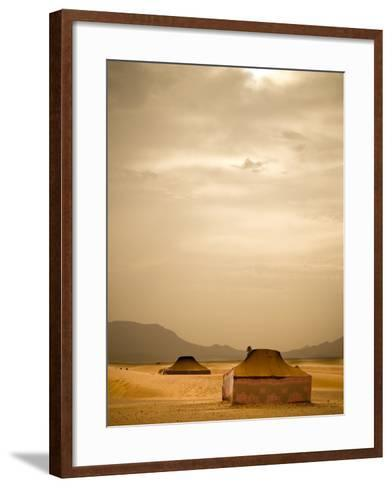 Traditional Bedouin Tents in the Sahara Desert, Near Zagora, Merzouga, Morocco, North Africa-Ian Egner-Framed Art Print