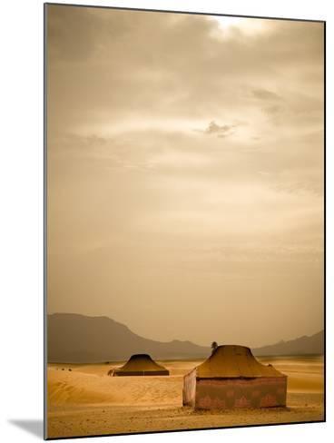Traditional Bedouin Tents in the Sahara Desert, Near Zagora, Merzouga, Morocco, North Africa-Ian Egner-Mounted Photographic Print
