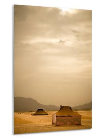 Traditional Bedouin Tents in the Sahara Desert, Near Zagora, Merzouga, Morocco, North Africa-Ian Egner-Metal Print