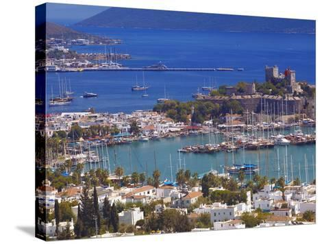 The Harbour and the Castle of St. Peter, Bodrum, Anatolia, Turkey, Asia Minor, Eurasia-Sakis Papadopoulos-Stretched Canvas Print