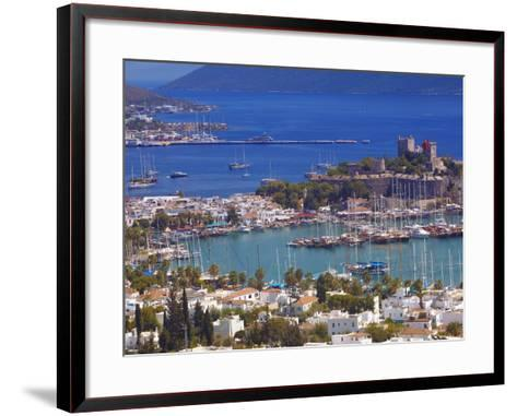 The Harbour and the Castle of St. Peter, Bodrum, Anatolia, Turkey, Asia Minor, Eurasia-Sakis Papadopoulos-Framed Art Print