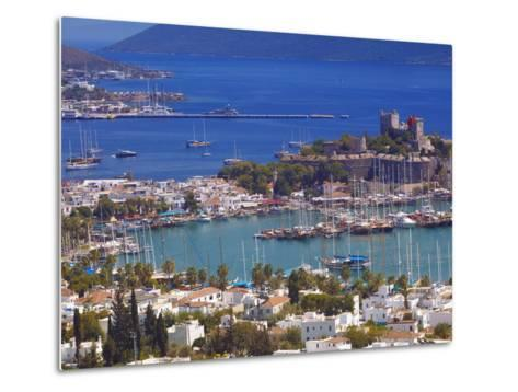 The Harbour and the Castle of St. Peter, Bodrum, Anatolia, Turkey, Asia Minor, Eurasia-Sakis Papadopoulos-Metal Print