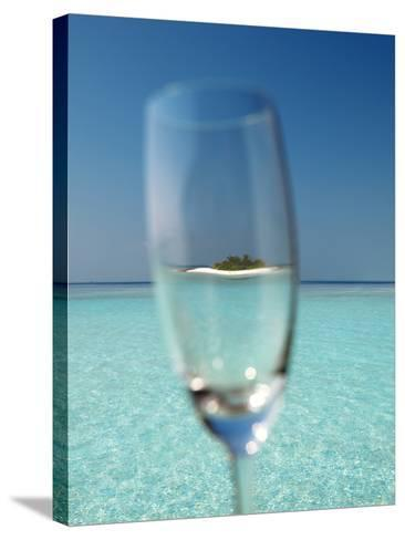 Glass and Tropical Island, Maldives, Indian Ocean, Asia-Sakis Papadopoulos-Stretched Canvas Print