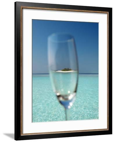 Glass and Tropical Island, Maldives, Indian Ocean, Asia-Sakis Papadopoulos-Framed Art Print