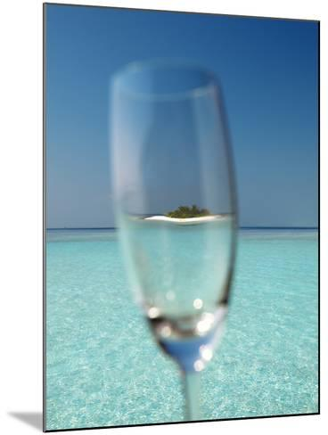 Glass and Tropical Island, Maldives, Indian Ocean, Asia-Sakis Papadopoulos-Mounted Photographic Print