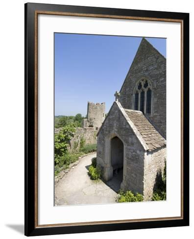 The Chapel of the 14th Century Farleigh Hungerford Castle, Somerset, England, UK, Europe-Ethel Davies-Framed Art Print