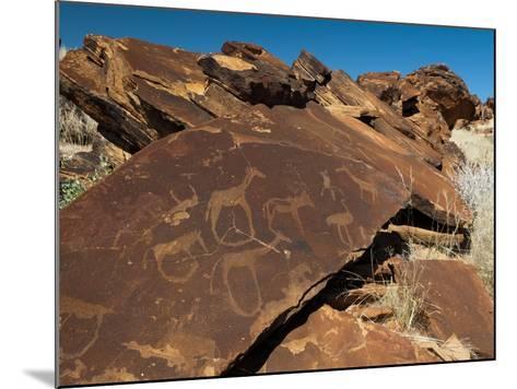 Rock Engravings, Huab River Valley, Torra Conservancy, Damaraland, Namibia, Africa-Sergio Pitamitz-Mounted Photographic Print