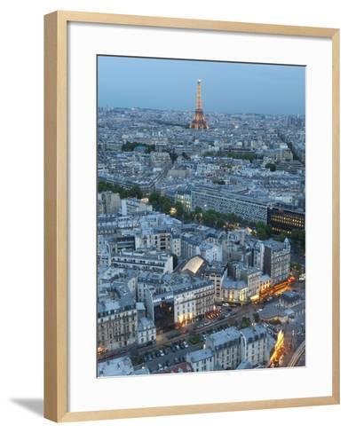City and Eiffel Tower, Viewed over Rooftops, Paris, France, Europe-Gavin Hellier-Framed Art Print