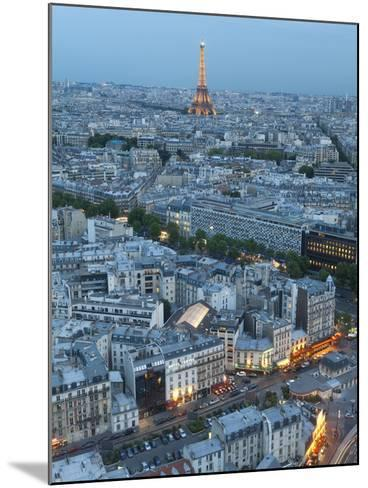 City and Eiffel Tower, Viewed over Rooftops, Paris, France, Europe-Gavin Hellier-Mounted Photographic Print
