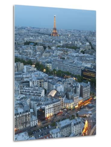 City and Eiffel Tower, Viewed over Rooftops, Paris, France, Europe-Gavin Hellier-Metal Print