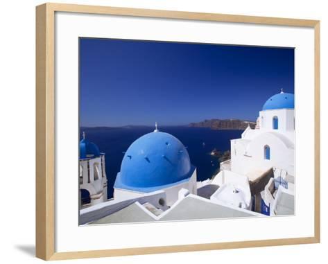 Oia, Santorini, Cyclades, Greek Islands, Greece, Europe-Sakis Papadopoulos-Framed Art Print