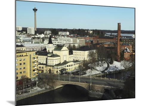 The Hameenkatu Bridge Crosses River Tammerkoski by Tampere Theatre in Tampere, Pirkanmaa, Finland-Stuart Forster-Mounted Photographic Print