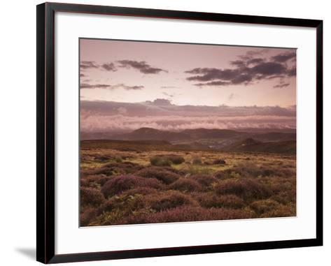 Dawn Above the Clouds on the Long Mynd Near Church Stretton, Shropshire, England, UK, Europe-Ian Egner-Framed Art Print