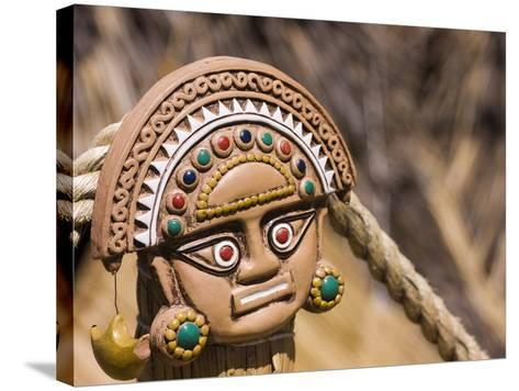 Traditional Inca Decorative Pottery, Lake Titicaca, Puno, Peru, South America-Ian Egner-Stretched Canvas Print