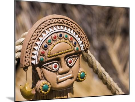 Traditional Inca Decorative Pottery, Lake Titicaca, Puno, Peru, South America-Ian Egner-Mounted Photographic Print