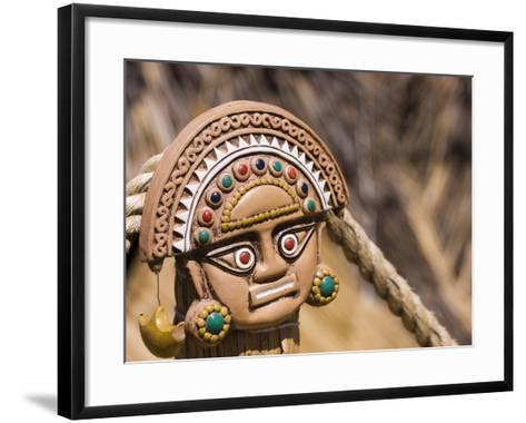 Traditional Inca Decorative Pottery, Lake Titicaca, Puno, Peru, South America-Ian Egner-Framed Art Print