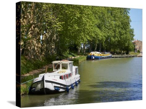 Near Locks of Fonserannes, Canal du Midi, UNESCO World Heritage Site, Beziers, Herault, France-Tuul-Stretched Canvas Print