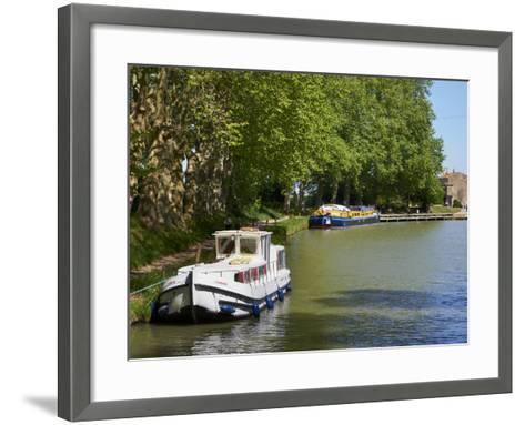Near Locks of Fonserannes, Canal du Midi, UNESCO World Heritage Site, Beziers, Herault, France-Tuul-Framed Art Print