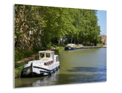 Near Locks of Fonserannes, Canal du Midi, UNESCO World Heritage Site, Beziers, Herault, France-Tuul-Metal Print