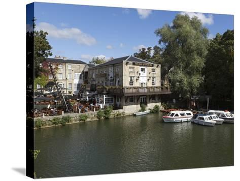 The Head of the River Pub Beside the River Thames, Oxford, Oxfordshire, England, UK, Europe-Stuart Black-Stretched Canvas Print