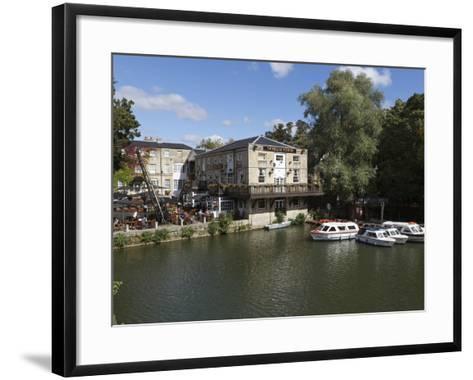 The Head of the River Pub Beside the River Thames, Oxford, Oxfordshire, England, UK, Europe-Stuart Black-Framed Art Print