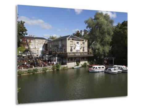The Head of the River Pub Beside the River Thames, Oxford, Oxfordshire, England, UK, Europe-Stuart Black-Metal Print