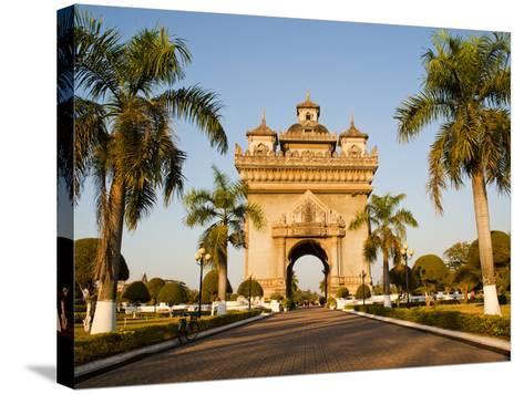Patuxai, (Victory Gate), a Replica of Arc de Triomphe, Vientiane, Laos, Indochina, Southeast Asia-Matthew Williams-Ellis-Stretched Canvas Print