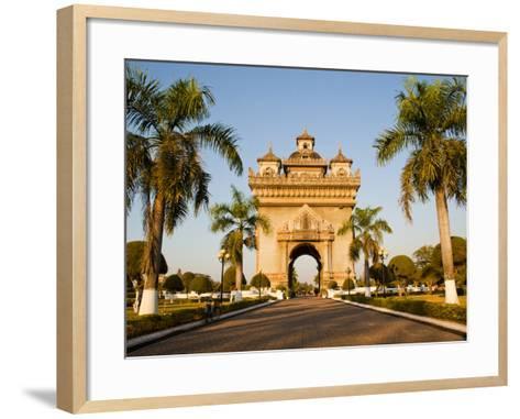 Patuxai, (Victory Gate), a Replica of Arc de Triomphe, Vientiane, Laos, Indochina, Southeast Asia-Matthew Williams-Ellis-Framed Art Print