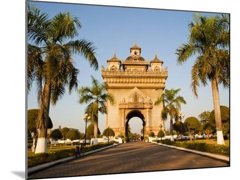 Patuxai, (Victory Gate), a Replica of Arc de Triomphe, Vientiane, Laos, Indochina, Southeast Asia-Matthew Williams-Ellis-Mounted Photographic Print