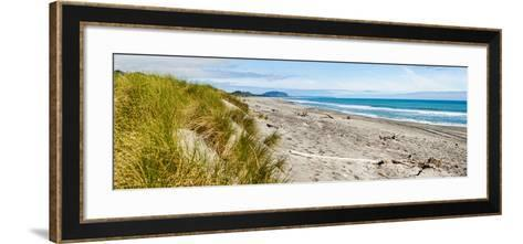 Panorama of Wild and Rugged Ross Beach, West Coast, South Island, New Zealand, Pacific-Matthew Williams-Ellis-Framed Art Print